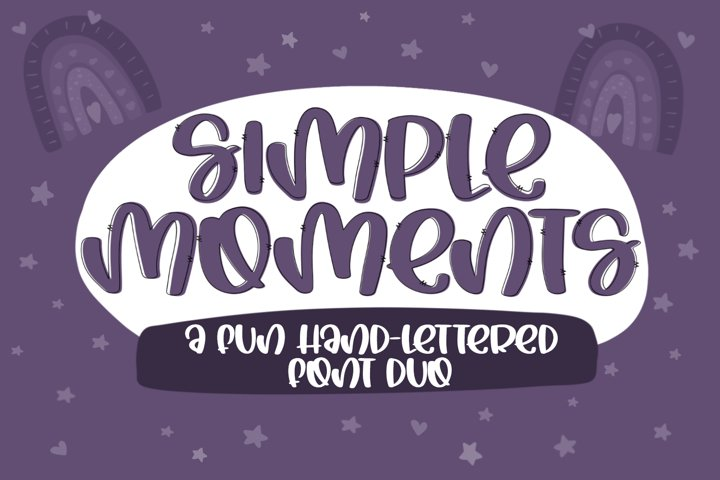 Simple Moments - A Fun Handlettered Font Duo