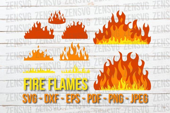 Fire Flames Svg Cut Files Bundle