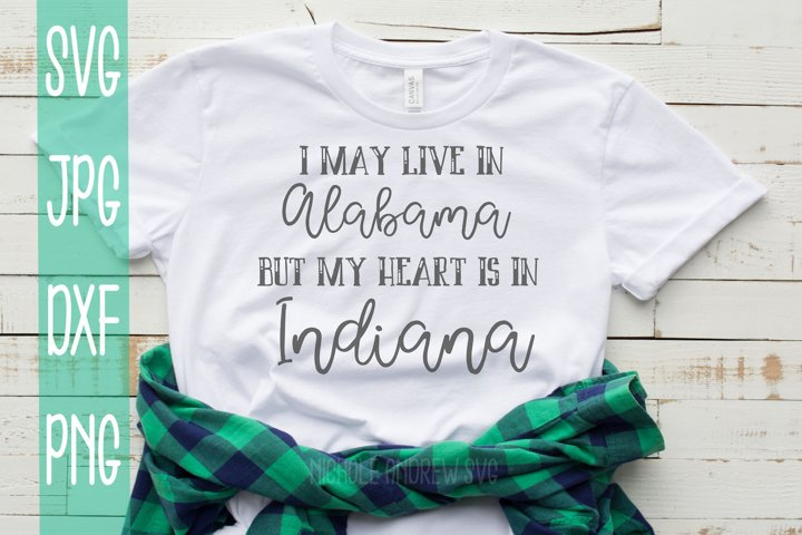 I may live in Alabama but my heart is in Indiana, SVG