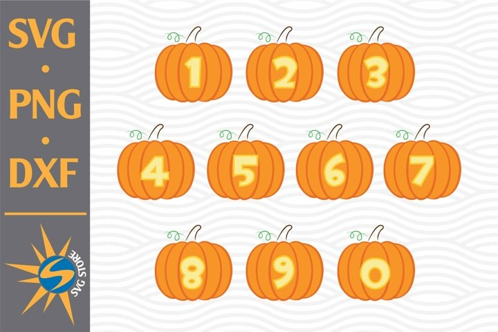 Pumpkin Numbers SVG, PNG, DXF Digital Files Include