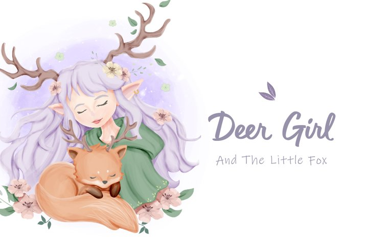 Deer Girl And The Little Fox