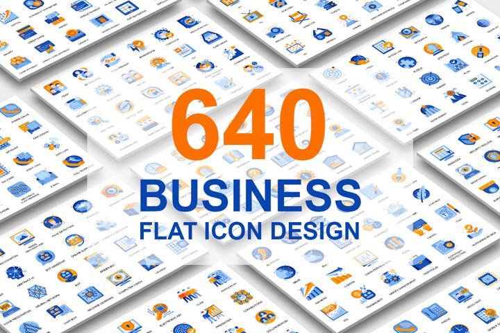 Big Collection Business Flat Icons