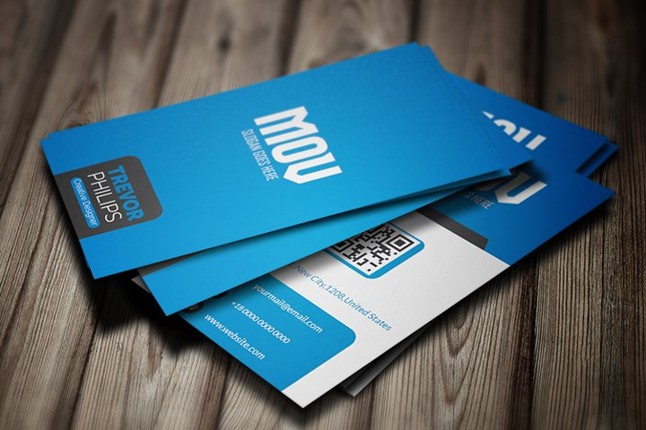 Creative Vertical Business Card Template V2