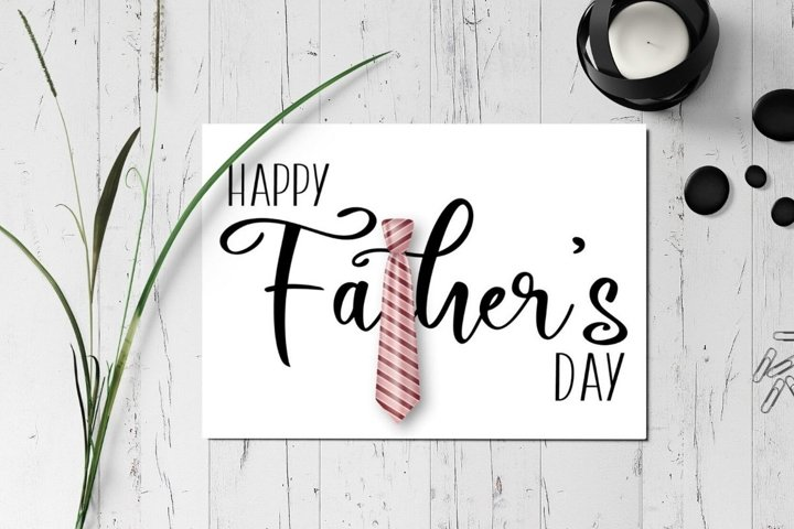 Printable Fathers Day Greeting Card