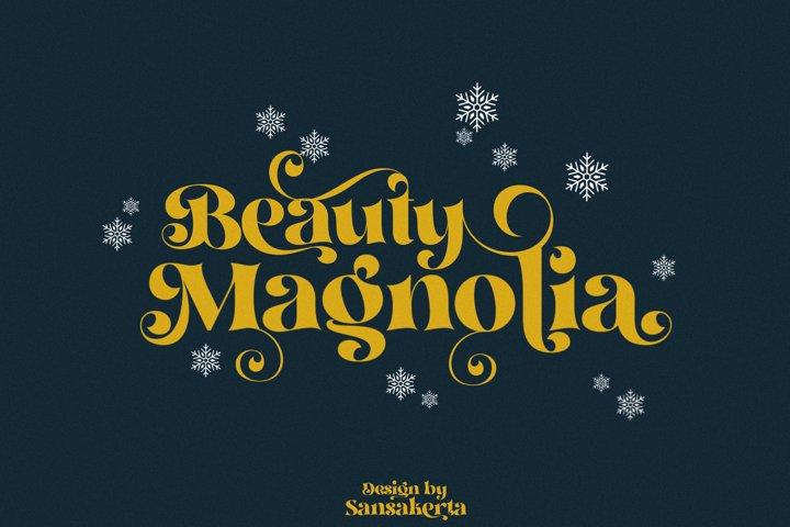 Beauty Magnolia - Display Font