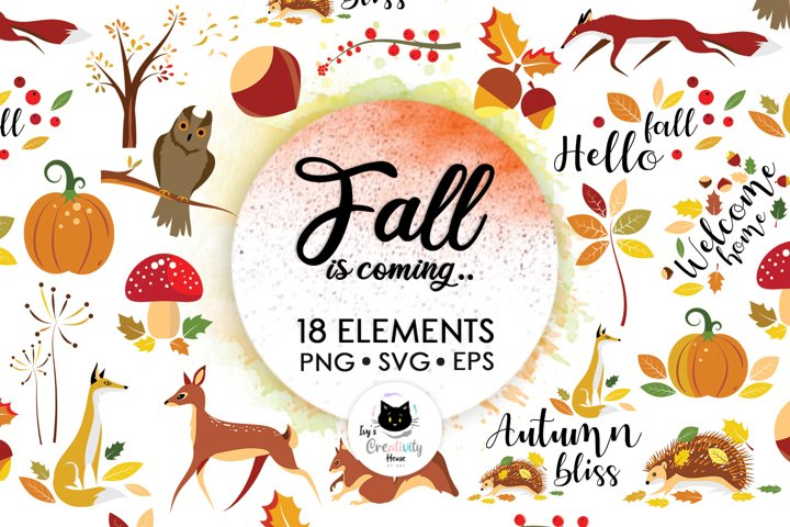 Happy Fall SVG Cut Files | Woodland Animals SVG Bundle