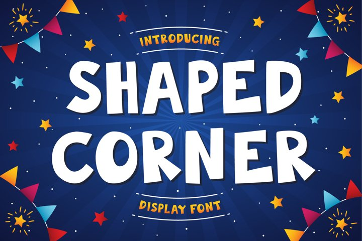 Shaped Corner | Display Font