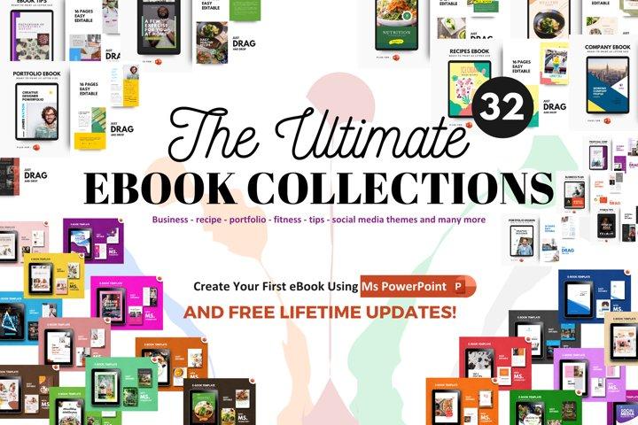 32 eBooks Bundle Template Editable Using Ms Powerpoint