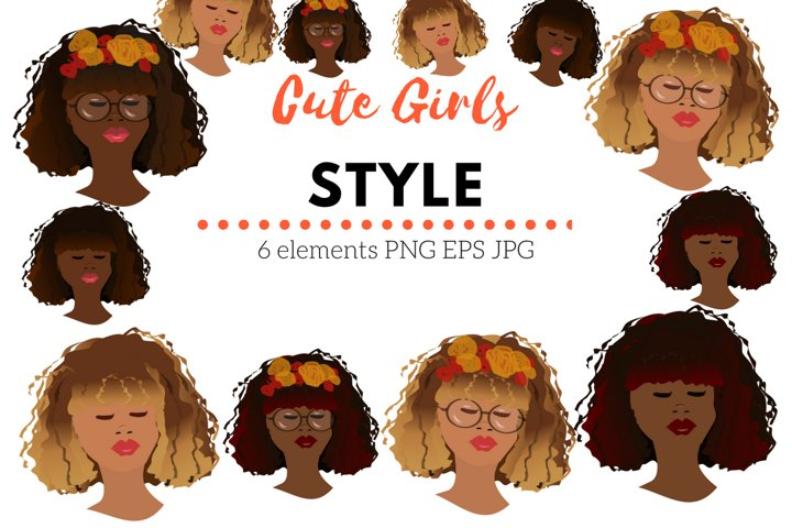 Cute Girls Style Clip Art