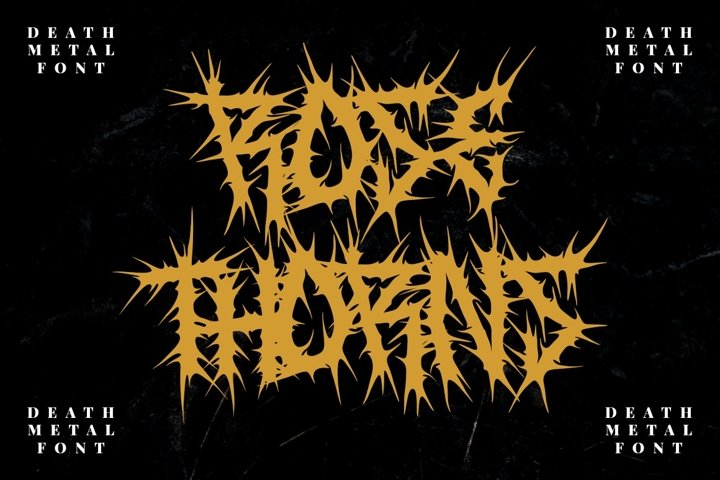 ROSE THORNS - Death Metal Band Font