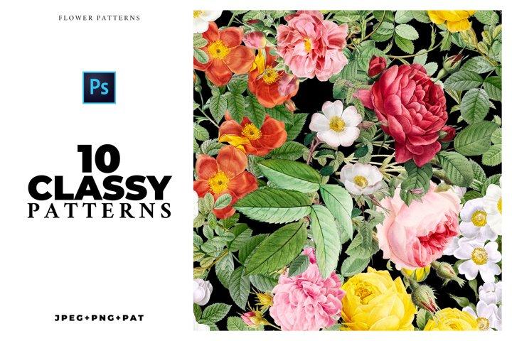 10 Classy Flower Patterns