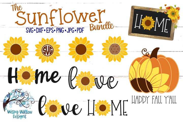 Sunflower SVG Bundle | Autumn Fall SVG Bundle