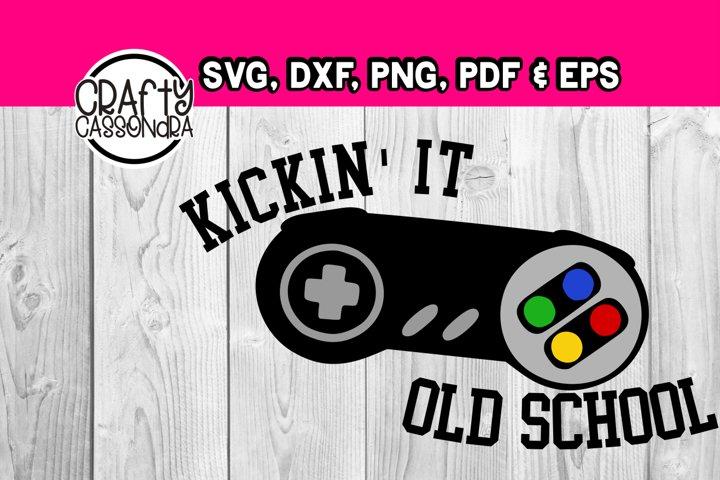 Video game - Kickin it old school - Gaming svg file - diy