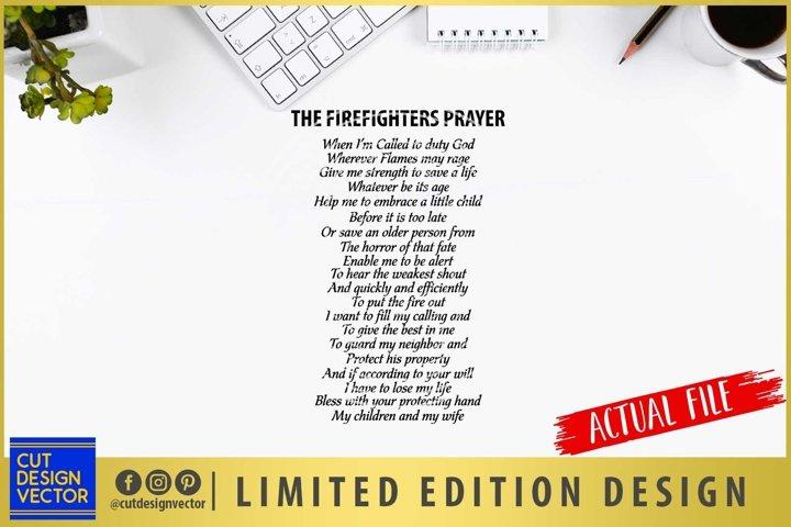Firefighters Prayer SVG, Fireman SVG