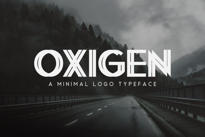 Oxigen | A Minimal Logo Typeface - Free Font of The Week Font