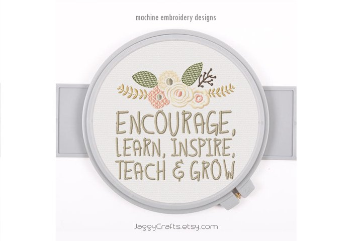 Teachers Day Quote Embroidery Design Instant Download