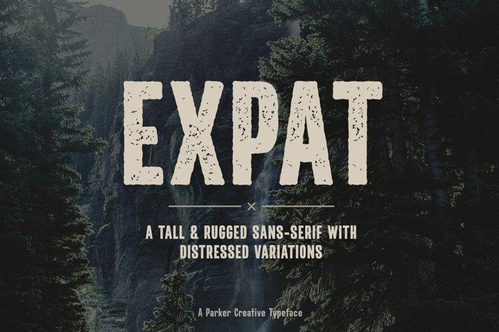 Expat - Tall & Rugged Sans-Serif Webfont