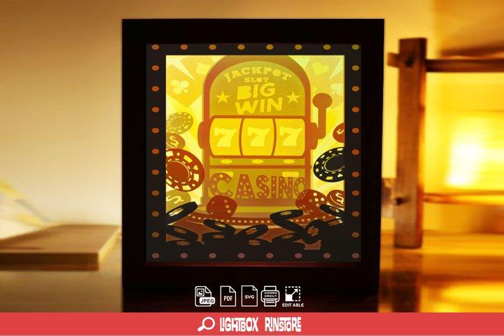 #105 Slot Machine big win 3D Shadow box Template