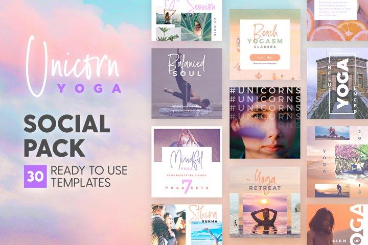 Unicorn Yoga - Social Pack
