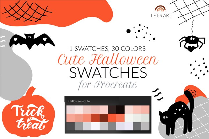 Halloween Procreate color palette. Halloween swatches