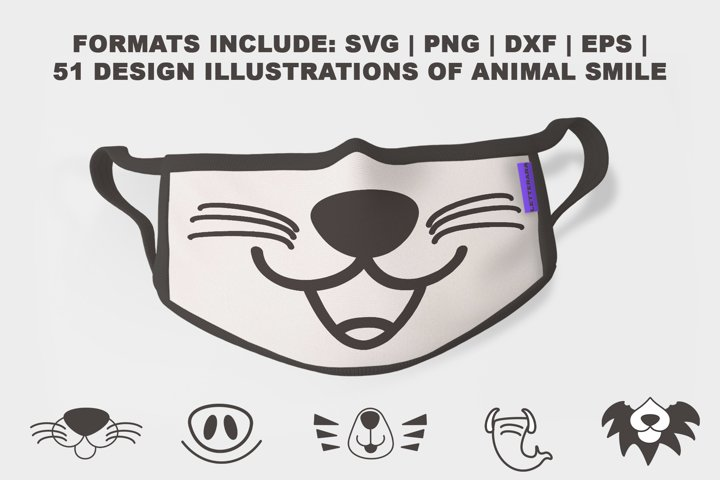 FACE MASK SVG| PNG | DXF | EPS COLLECTION 51 DESIGNS