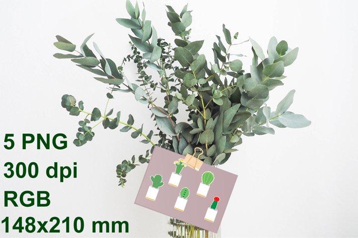 5 funny cactus stickers