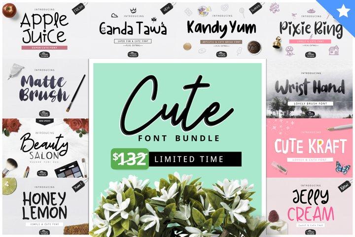 Cute Font Bundle by YandiDesigns