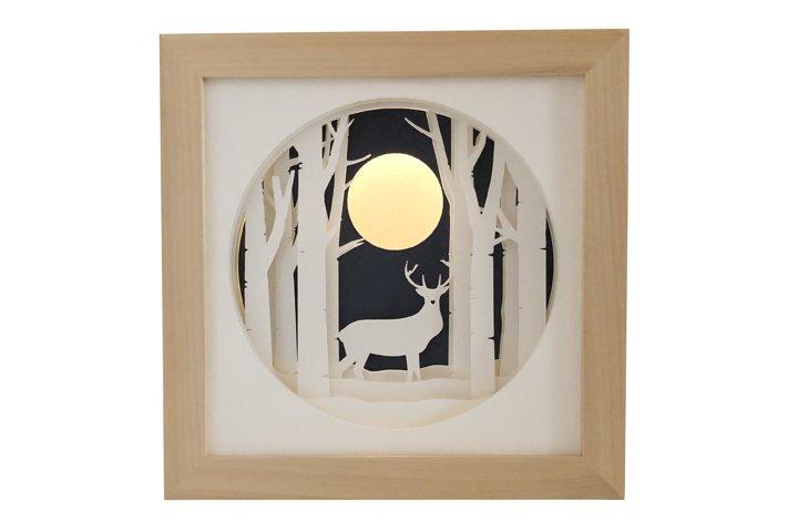 Stag Deer Shadow Box 3D Papercut Template