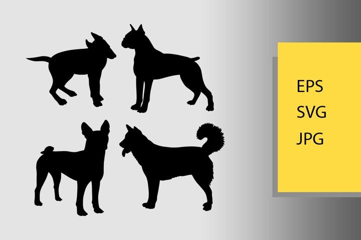 Dogs animal silhouette