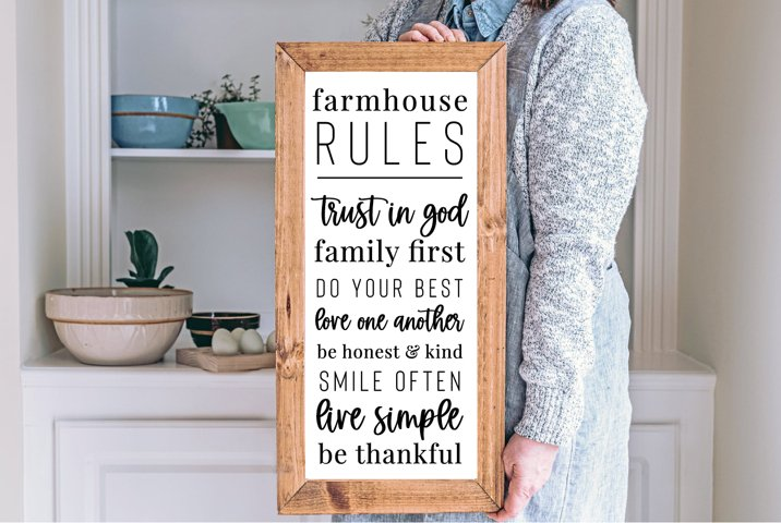 Farmhouse Rules, Farmhouse quote, House Quote, 5 Cut Files