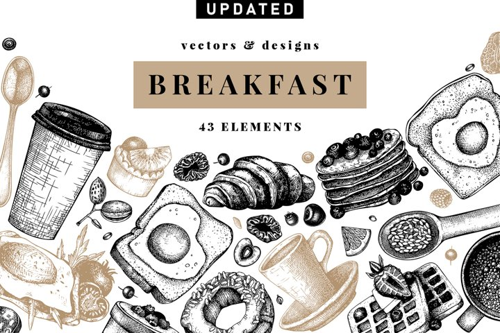 Hand Drawn Breakfast Design