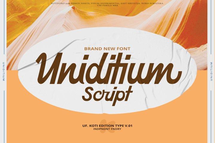 Uniditium - Bold Script Font
