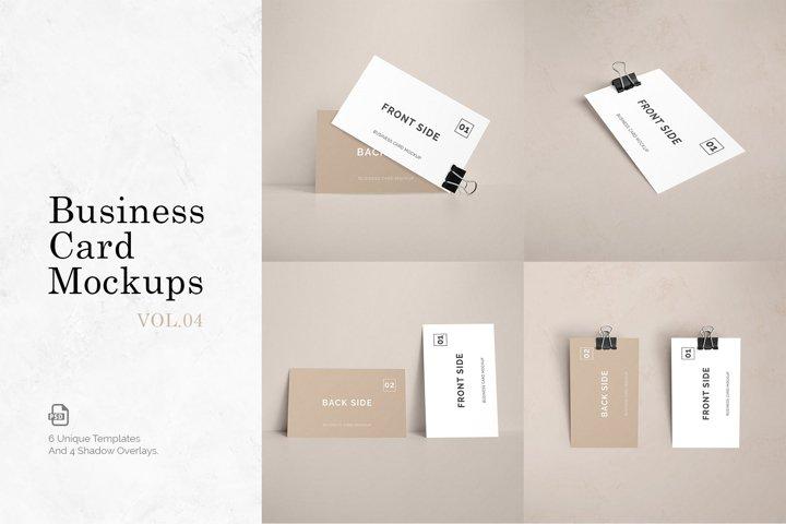 Business Card Mockups Vol.4