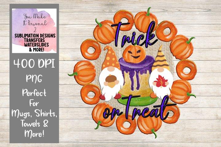 Trick or Treat, Halloween Gnome Design