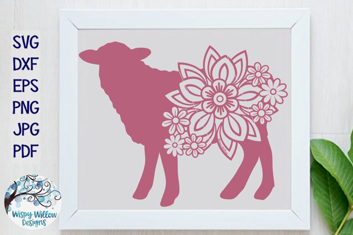 Floral Sheep SVG| Sheep with Flowers SVG Cut File