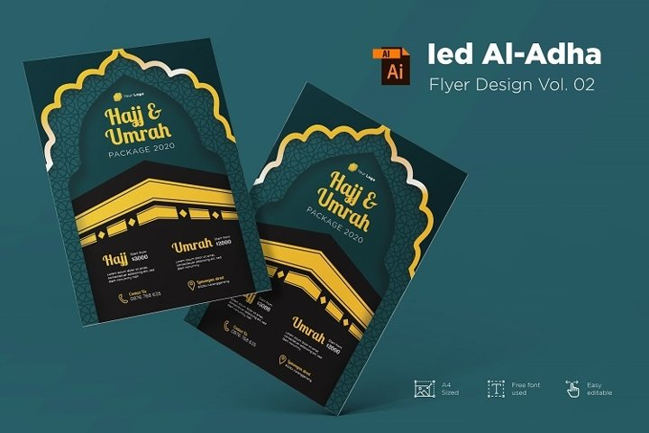 Ied Al-adha Mubarak flyer design Vol. 02
