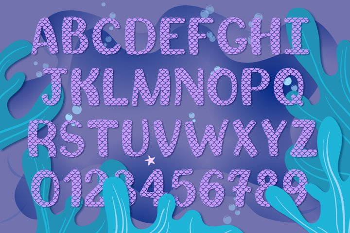 Mermaid Story & Mermaid Scales Font Duo | Mermaid Font - Free Font of The Week Design2