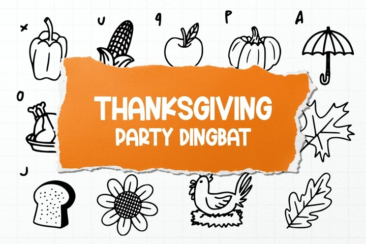 Thanksgiving Party Dingbat Font