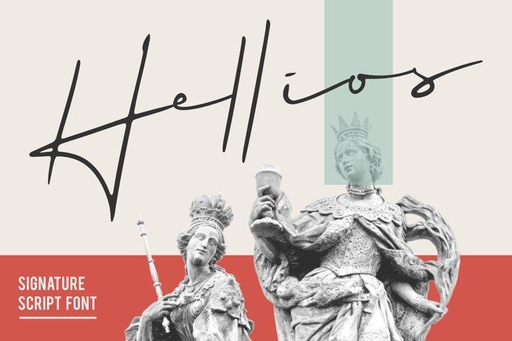 Helios Signature Font