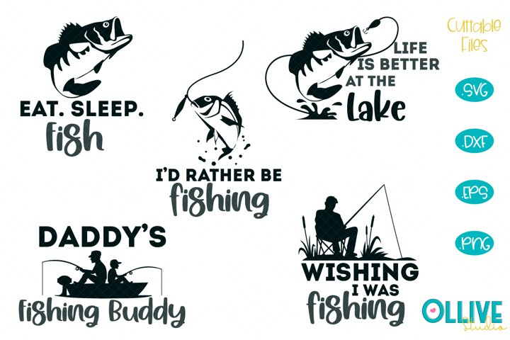 Fishing Quotes SVG Designs Bundle