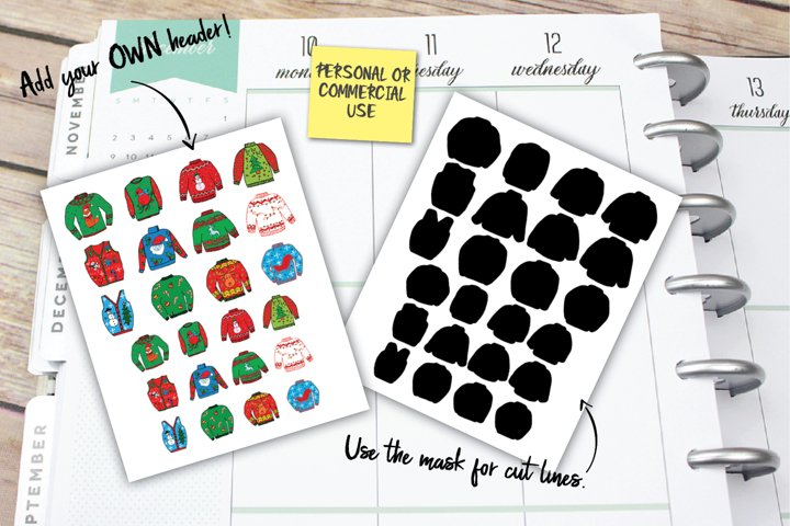 Christmas Sweater Planner Stickers