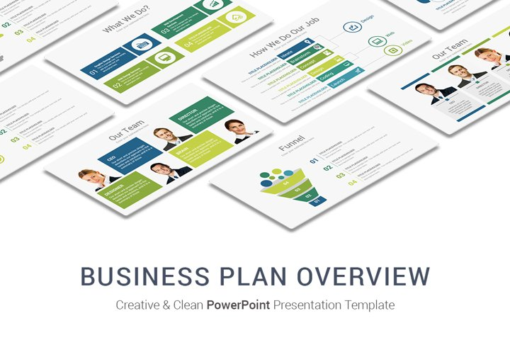 Business Plan Overview PowerPoint Presentation Template