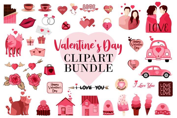 Valentines Day Clipart SVG Bundle Elements Collection