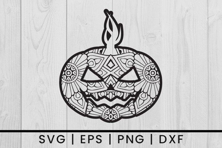 Halloween Pumpkin Mandala SVG Vector