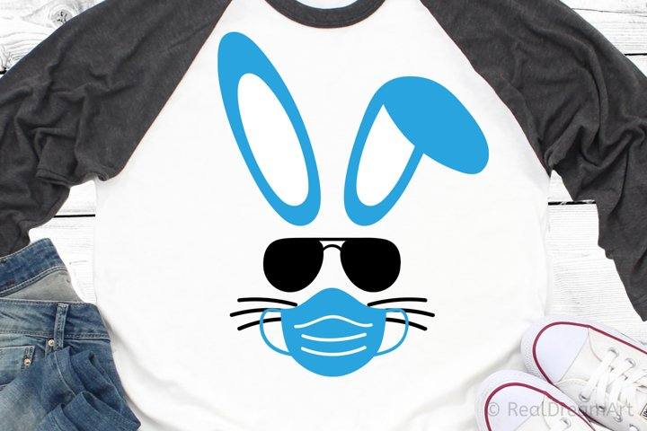 Bunny with Mask SVG, DXF, PNG, EPS