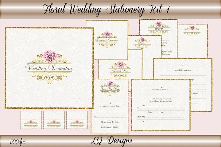 Floral Wedding Stationery Kit 1