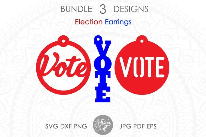 Vote earrings, Election earrings, SVG, PLEASE VOTE