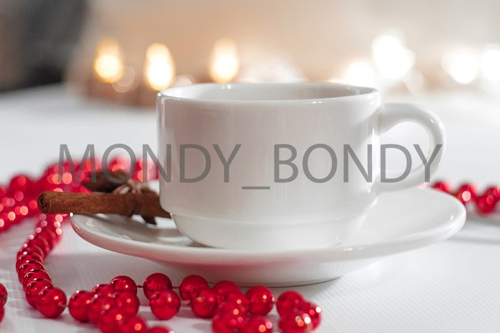 coffee cup tea and red decor