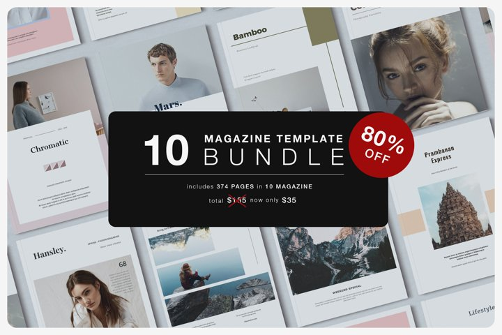 Magazine Template Bundle with Bonus!!