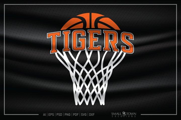 Tiger, Tiger Basketball, Tiger SVG, Tiger Basketball SVG